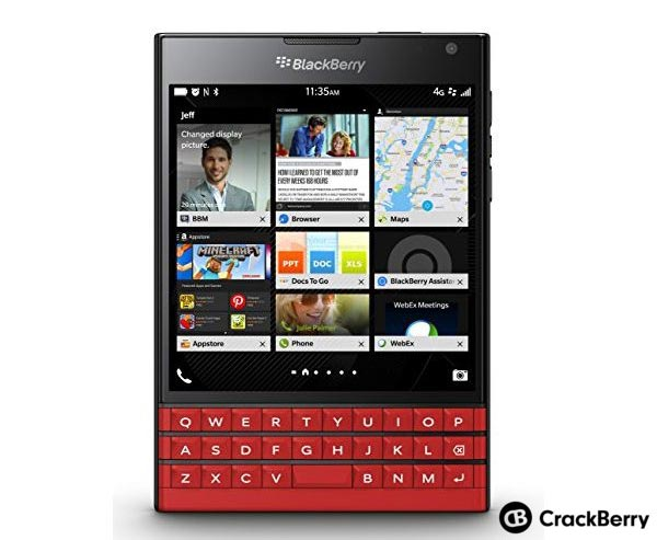 BlackBerry Passport in Red is coming in the end of December
