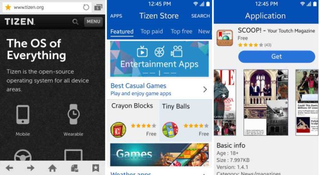Screenshots of Tizen 2.3 Update Surfaced on the Web
