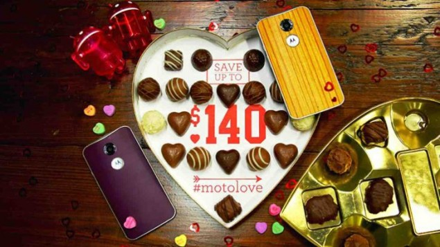 Motorola Gives Love and Promo Codes for Valentine's Day