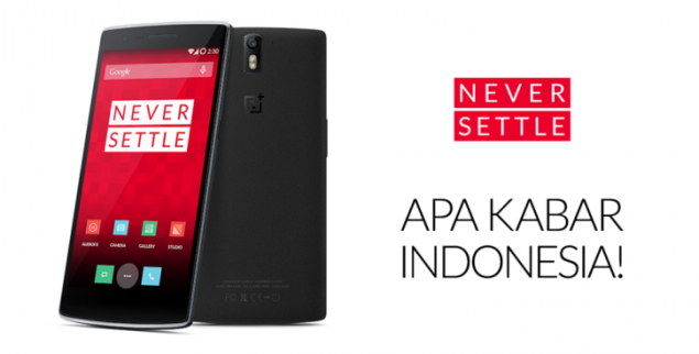 OnePlus One will be Released in Indonesia