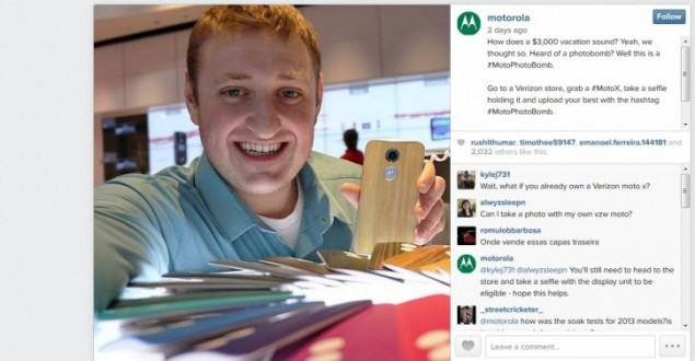 New Selfie Contest from Motorola and Verizon, #MotoPhotoBomb