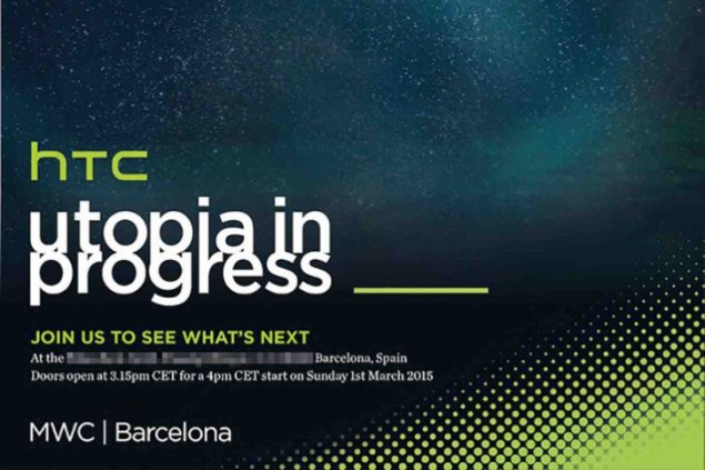 HTC is Sending-Out Invitations for MWC 2015 in Barcelona