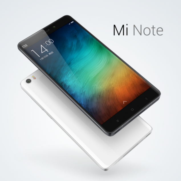 Xiaomi Officially Unveiled the Flagships Xiaomi Mi Note and Mi Note Pro