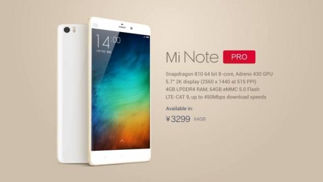 Xiaomi Mi Note and Mi Note Pro go official
