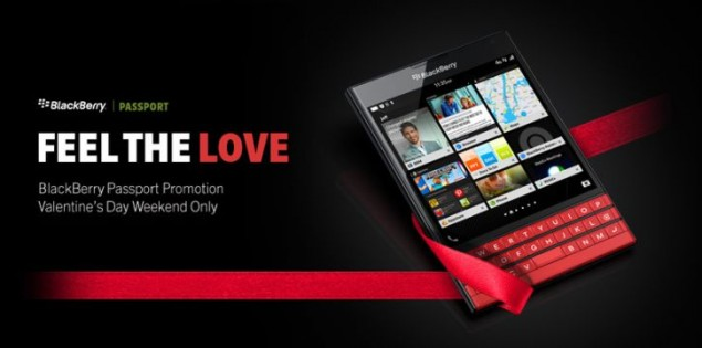 BlackBerry Passport is Available at Lower Price for Valentine's Day Promo