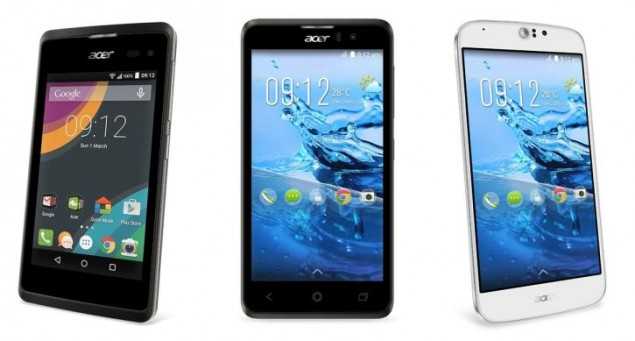 Acer Officially Announced 4 New Smartphones and a Smartband