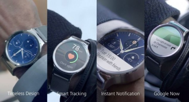 New wearable devices of Huawei go official at MWC 2015