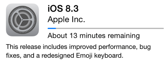 Apple is Pushing Out iOS 8.3