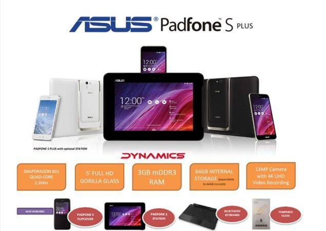 Asus Padfone S Plus will land on the shelves of retailers in Malaysia