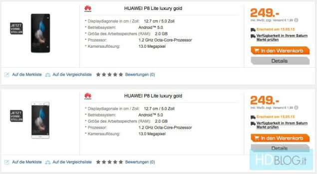 Walking Tippy Toes Huawei P8 Lite Goes for Pre-Orders in Germany