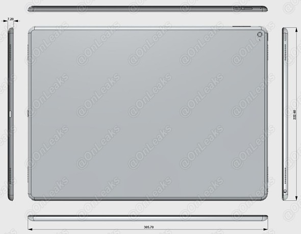 Alleged Footprint of Apple iPad Pro Surfaced on the Web
