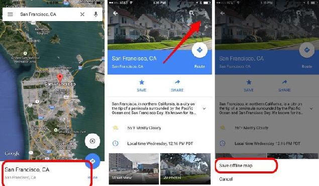 Google Maps feature Saved Maps presented in video of CNET
