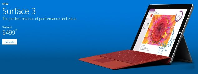 Microsoft Surface 3 is getting shipped