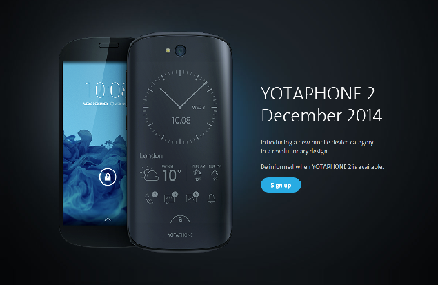 YotaPhone 2 is Up-for-Grabs in China