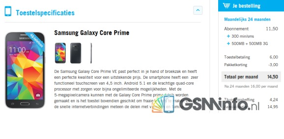 Samsung Galaxy Core Prime Value Edition to be released in the Netherlands