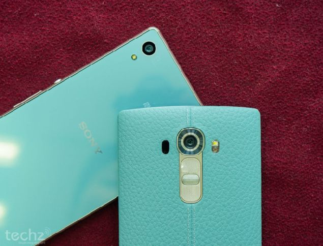 turquoise blue LG G4 and Xperia Z4 go for sells in Vietnam