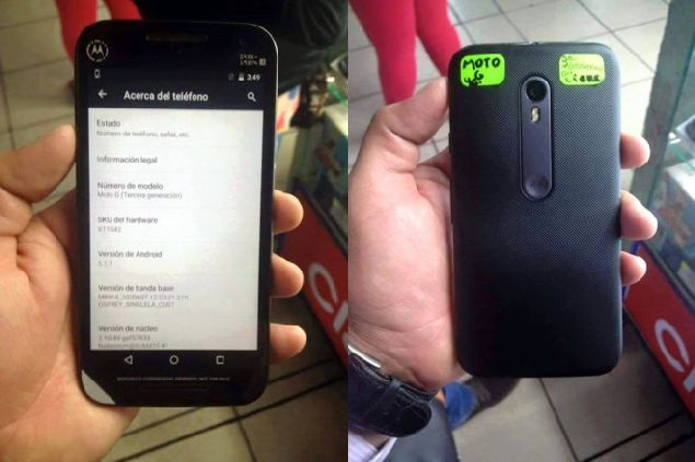 Motorola Moto X (2015) and Moto G (2015) are caught on camera