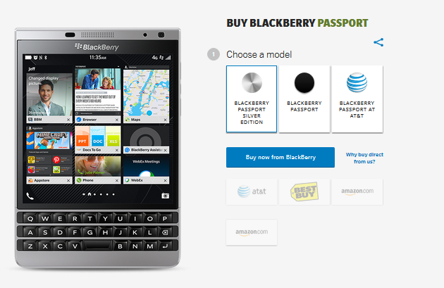 BlackBerry Passport Silver Edition is presented