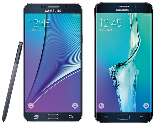 Render Image of Samsung Galaxy Note 5 and Galaxy S6 edge+ Appeared on the Web