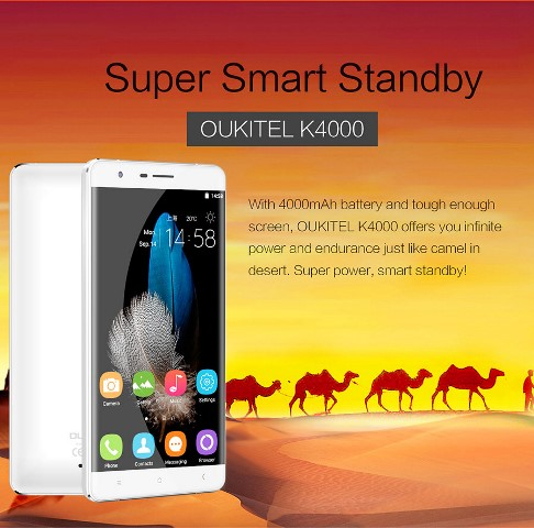 Oukitel K4000 is Packed with a 4000mAh Cell Under the Hood