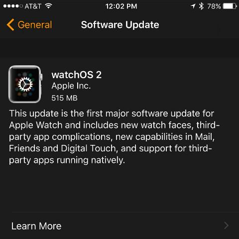watchOS 2 is Rolling Out