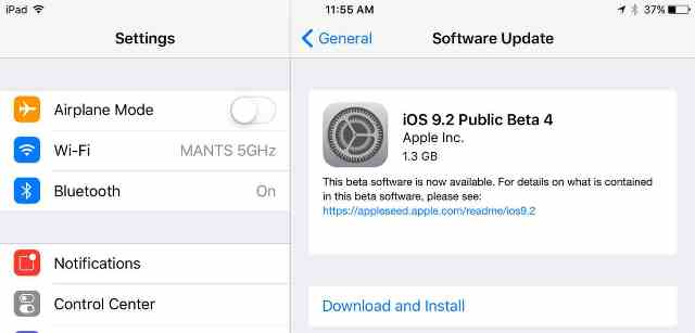 iOS 9.2 beta 4 is getting released for developers