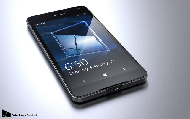 Microsoft Lumia 650 smiles for the camera