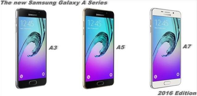 Samsung Galaxy A with a new trio of smartphones