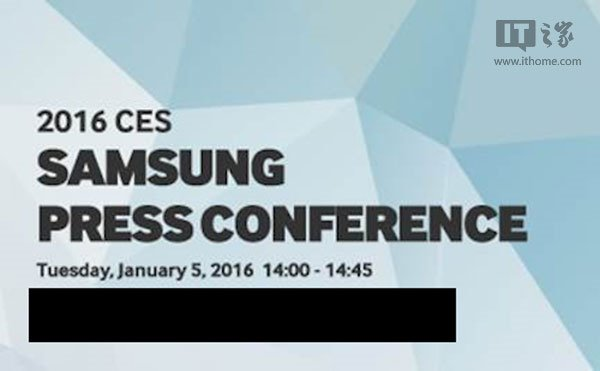 Samsung released invitations for CES 2016 for January 5th