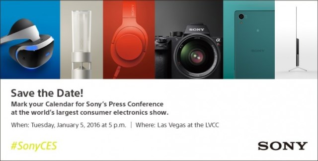 Sony CES Press-Event is Scheduled for January 5th
