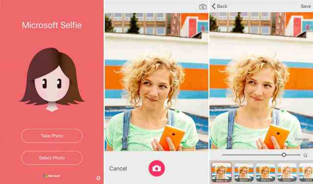 Microsoft Selfie is now free for download in the App Store