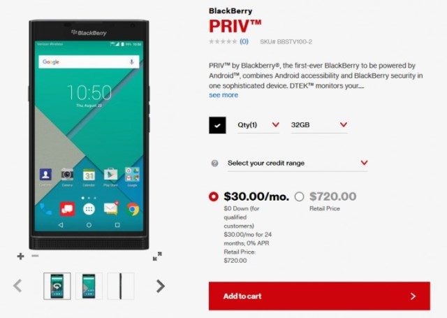 BlackBerry Priv is Up-for-Grabs at Verizon
