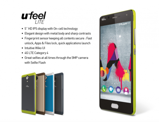 Wiko U Feel Lite Runs on Android 6.0 Marshmallow, Costs Less Than $200
