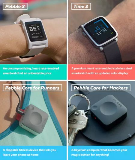Pebble 2, Pebble Time 2 and Pebble Core are unveiled