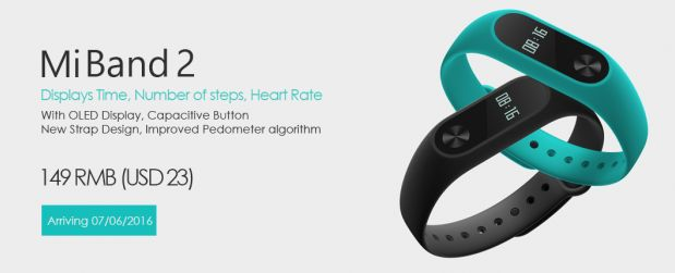 Xiaomi Mi Band 2 is unveiled officially with an OLED display